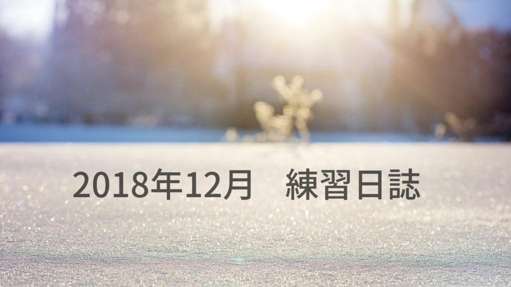 マラソン 2018年12月の練習日誌