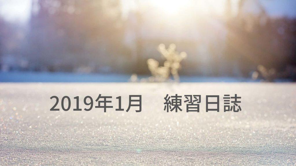 マラソンの練習日誌 2019年1月