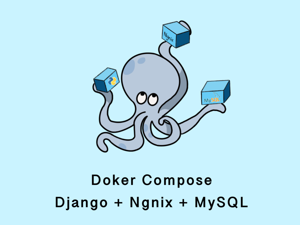 Docker ComposeでDjango+MySQL+Nginxの環境構築